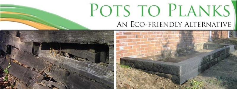 Recycled Plastic Landscaping Timbers : Pots to planks a green alternative railroad ties st