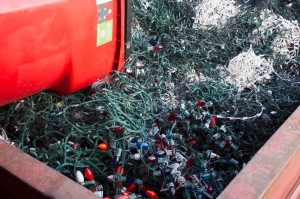 holiday light recycling, Quiet Village Landscaping participates