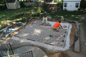 permeable paver installation video, patio landscaping