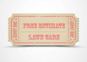 free estimate ticket for landscape maintenance, lawn care