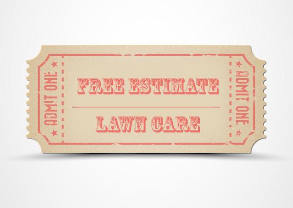 free estimate ticket for landscape maintenance, lawn care
