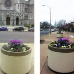 flower planter, spring landscape design