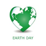 Earth Day project, heart, landscaping