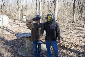 teammates at Quiet Village Landscaping paintball tournament