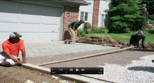 Permeable Paver Driveway Installation video, St. Louis area