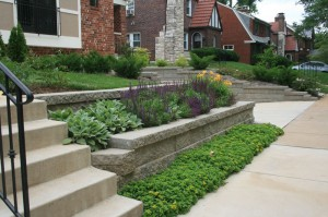 Retaining wall and raised bed combination near Maplewood in St. Louis