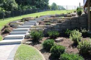 large retaining wall