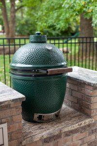 big green egg custom installation outdoor kitchen