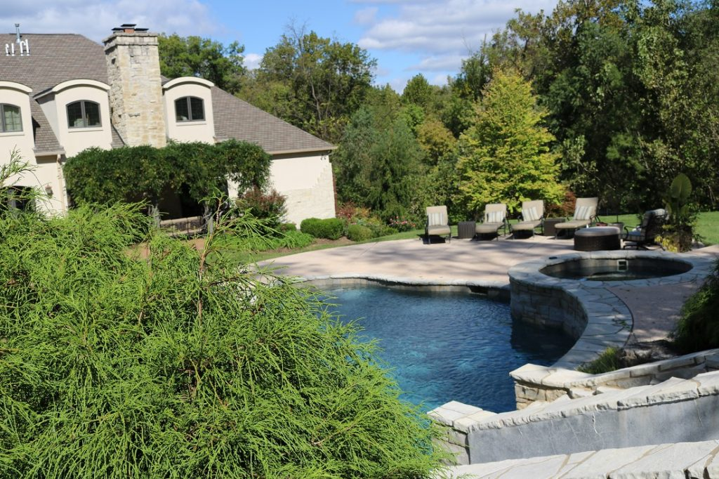 pool landscaping st. louis
