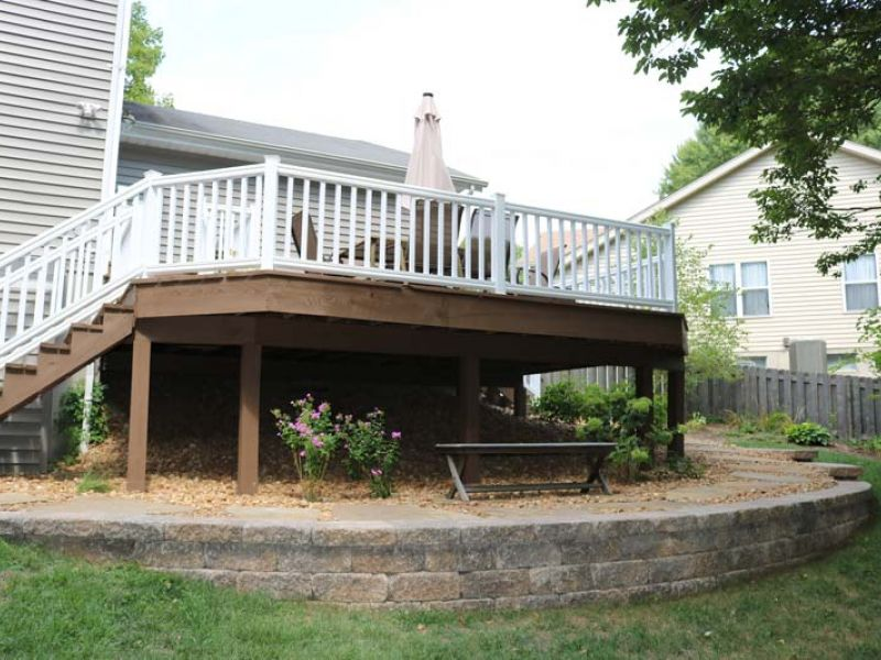 Retaining Wall Patio